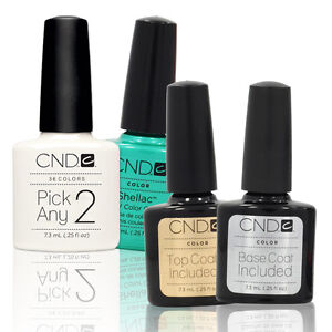 CHOOSE-2-PLUS-TOP-BASE-COAT-Nail-Polish-CND-Shellac-UV-0-25-Soak-Off-Colors