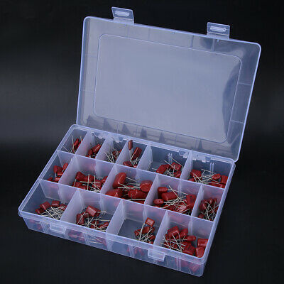 180pcs Cbb Polypropylene Film Capacitor 10nf400v-68nf 630v Assortment Kit
