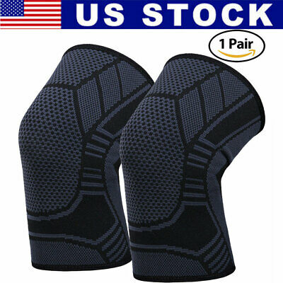 Knee Compression Sleeve - 2X Knee Sleeve Compression Brace Support For Sport Joint Pain Arthritis Relief
