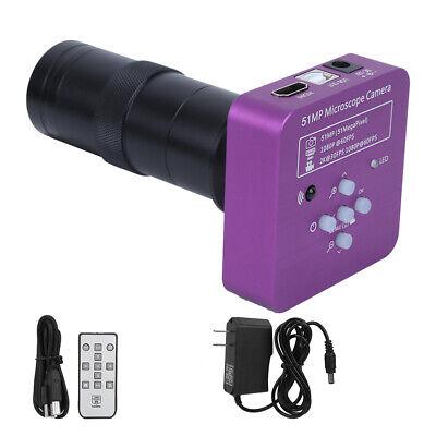 Fhd 51mp Hdmi Usb Industrial Digital Video Microscope Camera 120x C Mount Lens