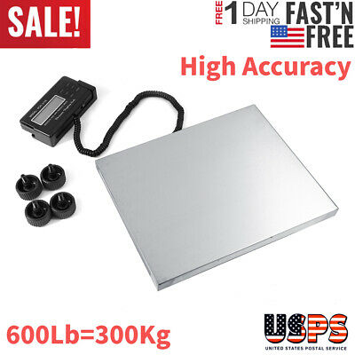 Heavy Duty Weigh Max 660lb X 0.1 Accuracy Lcd Digital Shipping Postal Scale Kit