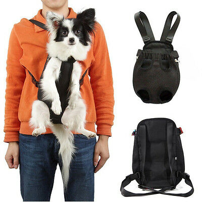 Nylon Pet Puppy Dog Carrier Backpack Front Net Bag Tote Carrier Sling Tote XL
