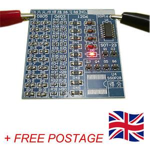 SMT SMD Electronic Component Practice Blue PCB Board Solder Soldering DIY Kit
