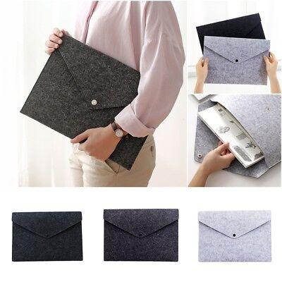 A4 Paper Document Bags File Folder Filing Solid Organizer Office Envelope Case