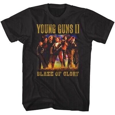 Young Guns 2 Blaze of Glory Movie Poster Men's T Shirt Emilio Estevez Kiefer Top](Blaze Movie)