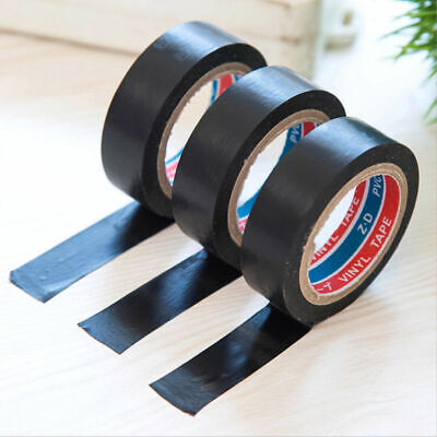 20m Length Pvc Electrical Wire Insulating Tape Roll Adhesive Tape Black Hot