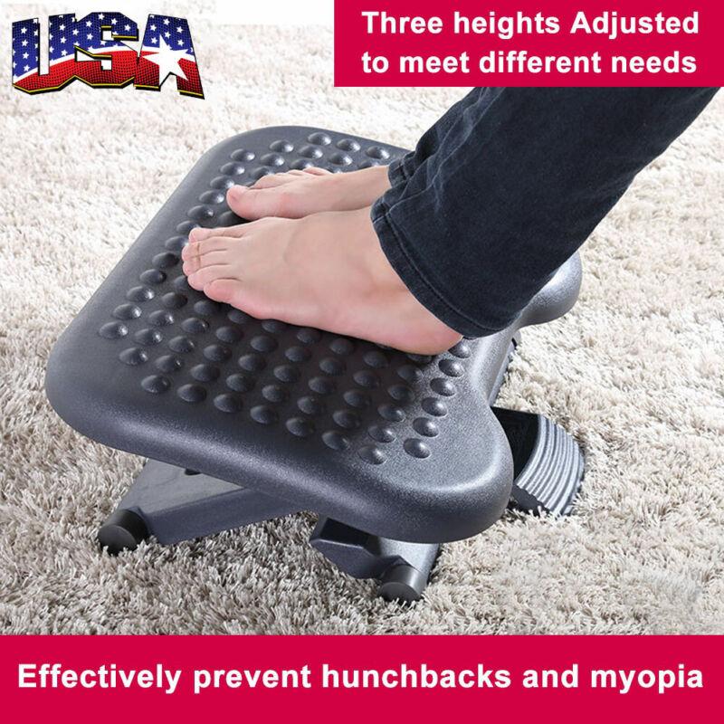 Foot Rest Stool Under Desk Adjustable Height Ergonomic Portable Comfort Gift