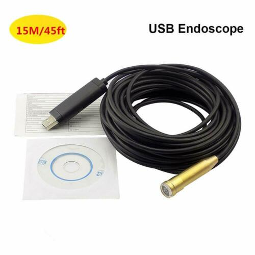 Pipe Inspection Camera Endoscope Video 15m/50 Ft Sewer Drain Cleaner Waterproof