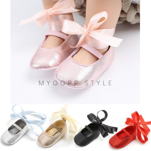 Newborn Baby Girl Soft Sole Cloth Crib Shoes Anti-slip Sneak