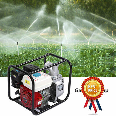 6.5hp 7m Gas Pool Gasoline Water Pump Semi Trash Pump 3 Inch Inlet And Outlet Us