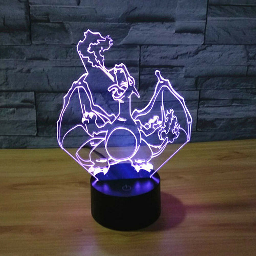 3D Optical Illusion Spittoon Color Gradient Touch Acrylic Night Light for Decor