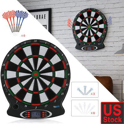 Arachnid Electronic Dart Board Set Target Game Room LED Display + 6 Darts