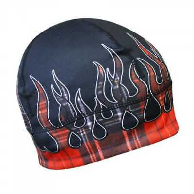 Missing Link Red Flames Flannel GasCap Beanie Hat Skull Cap GCRF