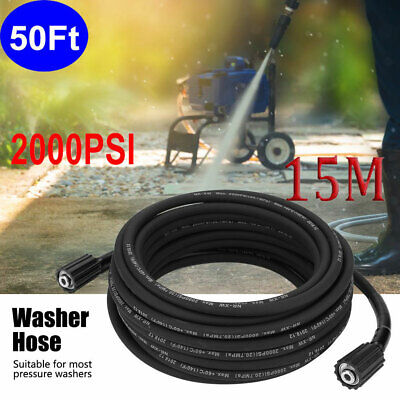 50 Ft. 2000 Psi High Pressure Washer Hose - M22 Connector - Replacement Hose