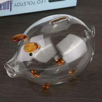Piggy Transparent Savings Bank Tin Box Coin Box Saver Cash Savings