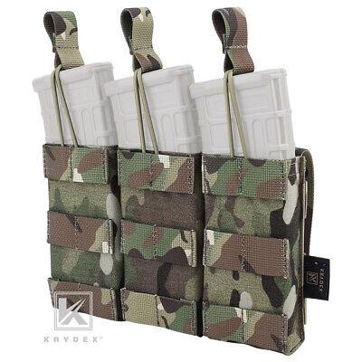 Military Surplus Green Canvas Go Bag /& Four 4 20rd Rifle Mag Pouch