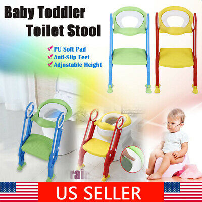 Baby Kids Potty Training Seat with Step Stool Ladder Child Toddler Toilet Chair