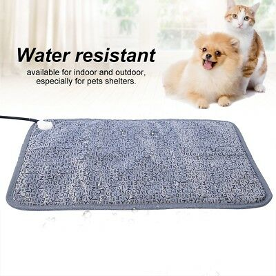 Pet Electric Blanket for Dogs Cats Heated Bed Warmer Mat Indoor/Outdoor US Plug