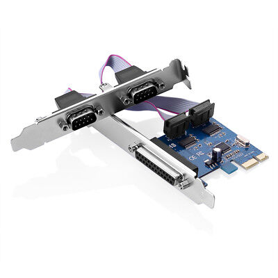 PCI-Express zu 2 Ports Serial Rs232 Rs-232 COM + 1 Parallel LPT Adapter Karte