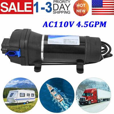 110v Ac 17 Lpm 40 Psi High Pressure Self-priming Diaphragm Water Pump Us Stock
