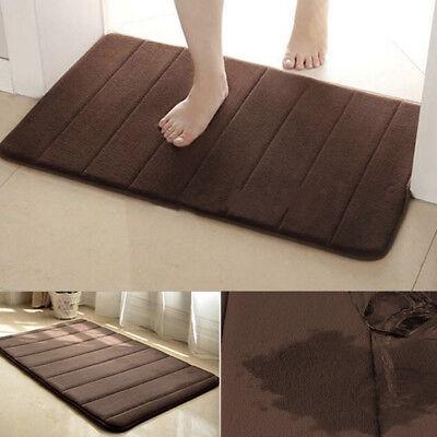 Absorbent/Soft Memory Foam Bathroom Bedroom Floor Shower Bath Mat Brown