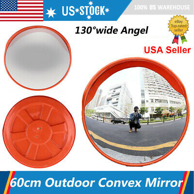 2460cm Outdoor Road Traffic Convex Mirror Wide Angle Driveway Safety Security