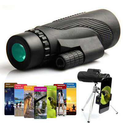 40×60 Monocular Telescope Waterproof Travel Smartphone Spotting Scope Welcome Hunting