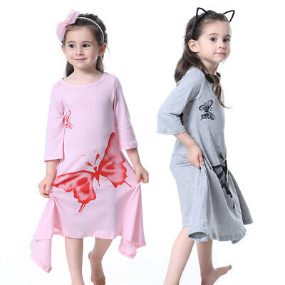 Toddler Baby Girls Long Sleeve Elegant Butterfly Loose Casual Dress Clothes New Clothing, Shoes & Accessories