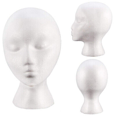 Portable Female Mannequin Head Wigs Stand Shop Hat Cap Sunglasses Scarf Display