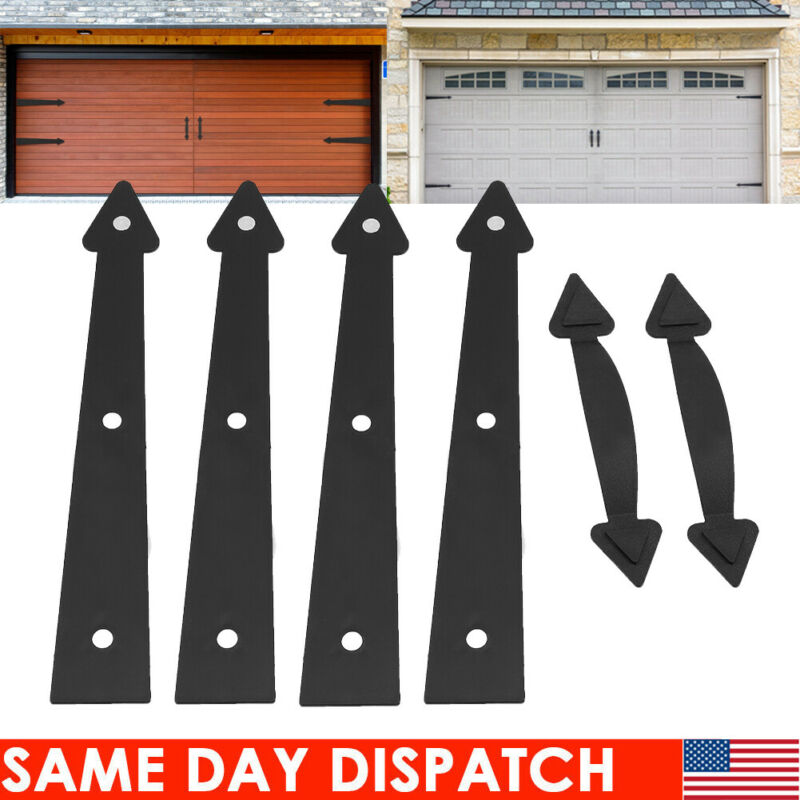 Decorative Garage Door Magnetic Handle and Hinge Carriage House Hardware Kit