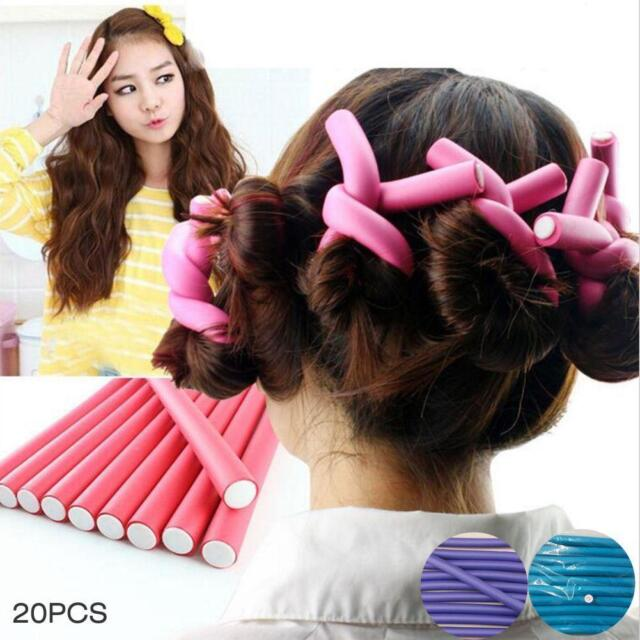 20PCS Curl DIY Hair Curlers Tool Styling Rollers Spiral Circle Magic Roller SP
