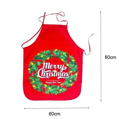Merry Christmas Cotton Linen Women Apron Kitchen Restaurant Cooking Bib Aprons