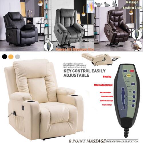 Elektrisch Fernsehsessel Relaxsessel Massage Heizung TV Ruhe Sessel Aufstehhilfe