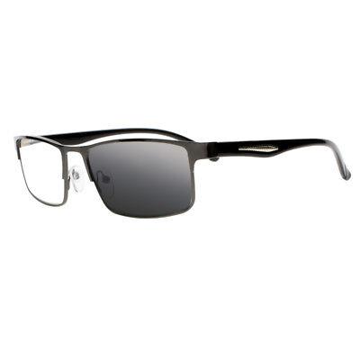 Männer Transition Photochromic Nerd Geek Lesebrille Sonnenbrille + 1,0~+ 4,0
