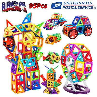 Building Block Toys (95Pcs/Set Magnetic Building Blocks Construction Children Toys Educational)