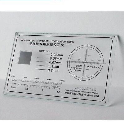 Microscope Stage Micrometer Calibration Slide Ruler