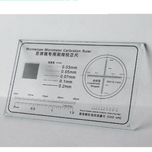 Microscope Stage Micrometer  Calibration Slide Ruler