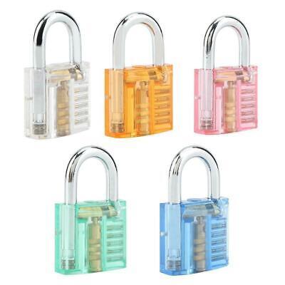 Transparent Cutaway Locks Practice Padlock Locksmith Training Tool 1 Lock2 Keys