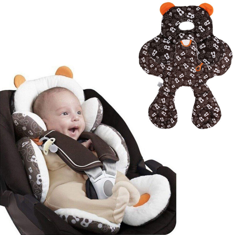 Baby Stroller Head Body Support Car Seat Cushion Pillow 2-in-1 Reversible Pads