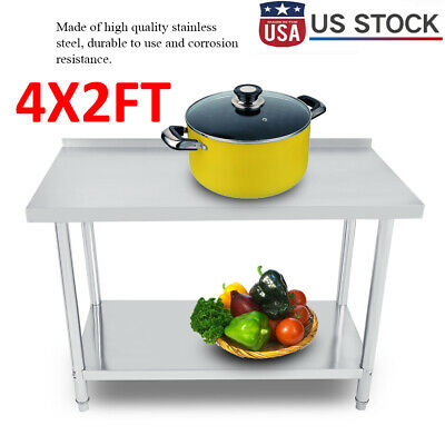 24 X 48 Work Table Food Prep Stainless Steel Commercial Kitchen Restaurants