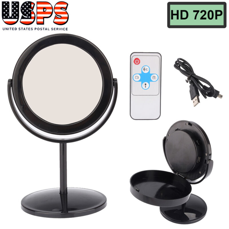Mini Hidden Camera Mirror Video Camcorder Audio HD Spy Equipment Black