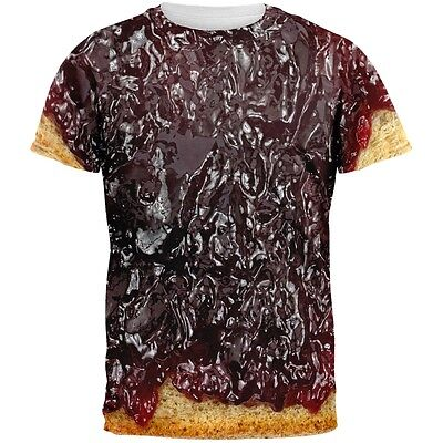 Halloween Jelly PB Costume All Over Adult T-Shirt](Jelly Halloween)