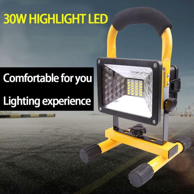 30W Rechargeable LED Work Light Flood Lights with Stand for