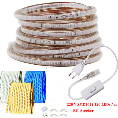 220V LED-Streifen-Licht 3014 Wasserdichter kommerzieller flexibler Seil-Stecker Flexibles Licht