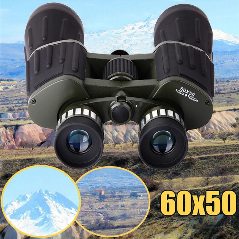 60x50 Day/Night Military Army Zoom Optics Hunting Camping Powerful Binoculars