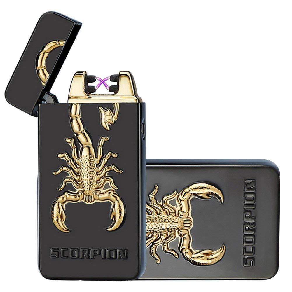 3D Scorpion USB Electric Dual Arc Flameless Torch Rechargeab