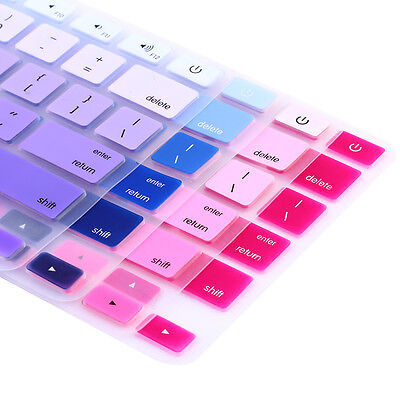 """Rainbow Silicone Keyboard Case Cover Skin Protector for iMac Macbook Pro 13"""" 15"""""""