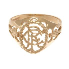 (NEW) Rangers F.C. 9ct Gold Crest Ring