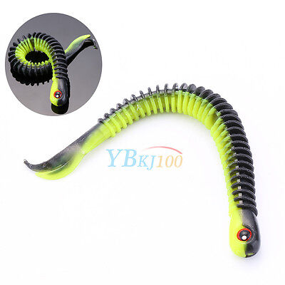 Soft Plastic Bait Fishing Lures Small Hook Worm Bass Crankbaits Tackle 12.5cm - Fish Bait Worms