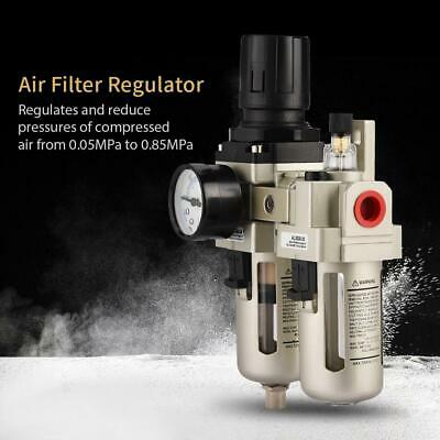 38 Air Compressor Filter Oil Water Separator Trap Tools W Regulator Gauge Usa